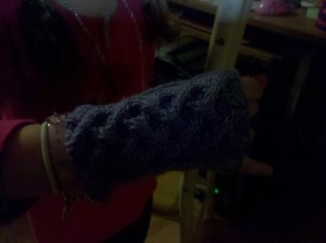 Fingerless mitts for my daughter