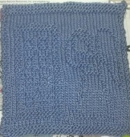 Weeping Angel and TARDIS washcloth